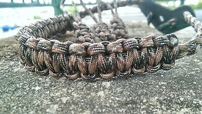 Archery Bow Sling 550 Paracord Dream brown + 3 zipper pulls