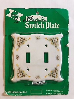 Vintage Guild Decorator Switch Plate Cover Daisy Shabby Chic Plastic NIP NOS