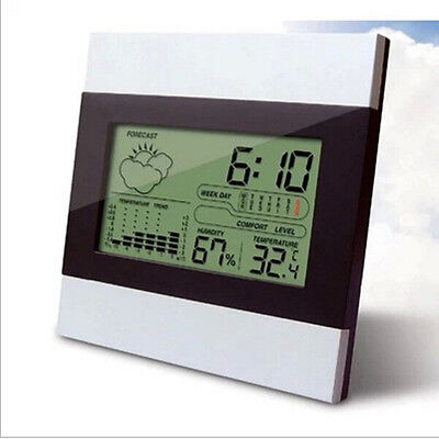 New Digital LCD Alarm Clock Home Weather Station Thermometer Calendar HGUK