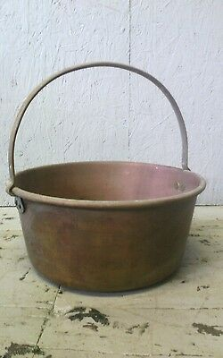 Antique brass Planter Garden Vintage Kitchen Victorian jam preserve Pan Bowl