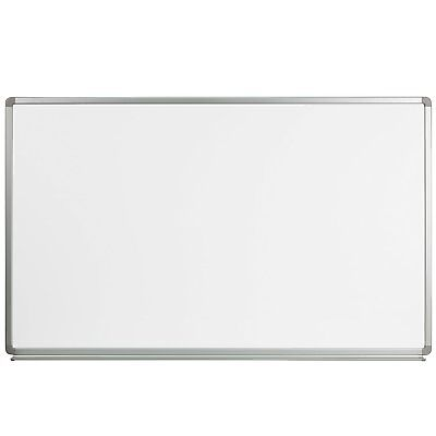 Flash Furniture 5' W x 3' H Magnetic Marker Board, YU-90X150-WHITE-GG New