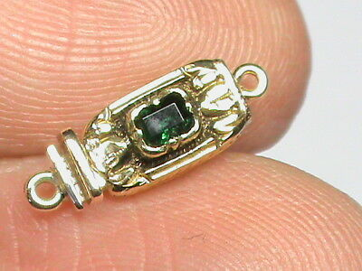 Small Antique Victorian 18k 18ct Gold Emerald Clasp for Bracelet or Necklace