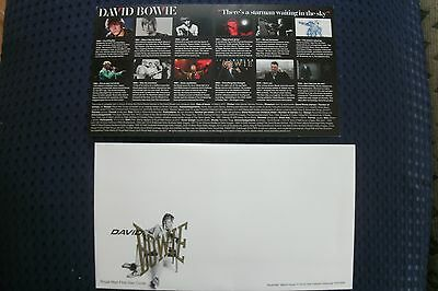 DAVID BOWIE Stamps First Day Envelope & Commemorative Card .  FREE UK P+P ......