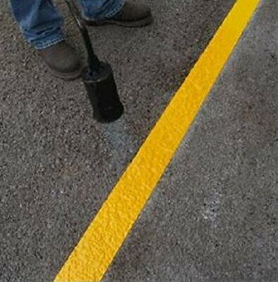 Yellow Road Line Marking Parking Line 5m X 100mm wide SUPER REFLECTIVE Torch-On