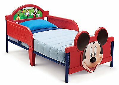 Delta Children Mickey Mouse 3D Toddler Bed, Kids Bed With Side Guards