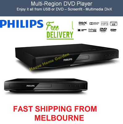 Philips DVD Player Multi Region Free Movie Player CD DVD WMA JPEG USB Worldwide