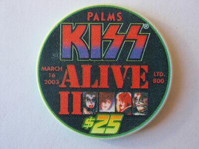 Palms Hotel Casino Las Vegas 2003 $25 KISS Alive II Casino Chip Mint / UNC