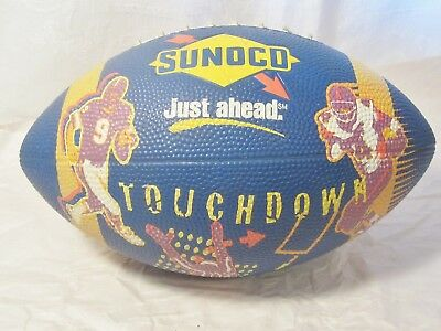 """1970's Sunoco Promotional Football / Sunoco """" Just Ahead """" Touchdown Football"""