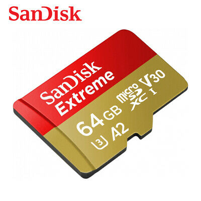 Sandisk Extreme A2 64GB micro SDXC Class10 UHS-I U3 Card 160MB/s with Adapter
