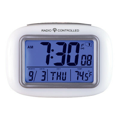 Cordless Atomic Digital Alarm Clock, White, by Collections Etc