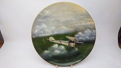 Coalport Curtiss JN -4 Canuck Wings Over Canada - Ross Buckland Collector Plate