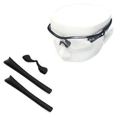 f590c99807 Black Silicone Kit Replacement Ear Socks   Nose Piece for-Oakley Radar Path