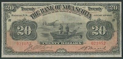 Canada Bank Of Nova Scotia #550-28-22 $20 1929 Halifax F-Vf+ Wlm4995