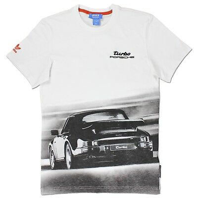 Adidas Originals Herren Porsche 911 Turbo Design Tee Shirt Vintage Weiss S-Xxl