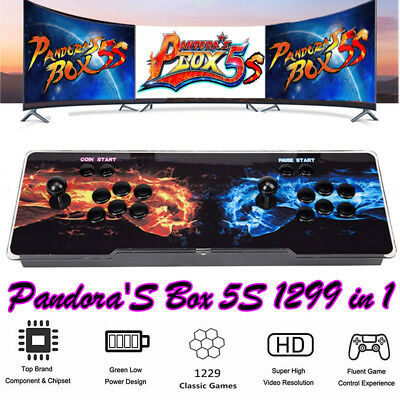 2018 Newest Pandora's box 5S Retro Home Arcade Video Game 1299 Games in 1 System