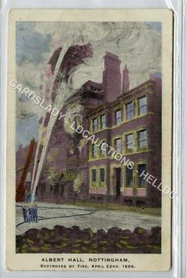 (Ld6089-183)  Albert Hall,  NOTTINGHAM  1906, Unused G-VG