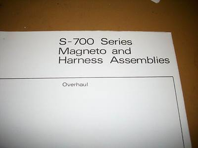 bendix s 20 series magneto overhaul manual 131 97 picclick rh picclick com Bendix Magneto Repair bendix 1200 series magneto overhaul manual