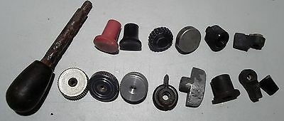 Cast iron and plastic knobs and handles, lot of 15_______4703/9