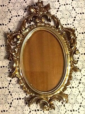 Vtg Wall Picture Frame Hollywood Regency Italian Florentine Gold Ornate