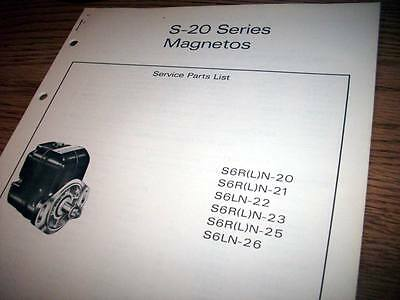 bendix s 20 series magneto overhaul manual 131 97 picclick rh picclick com bendix 1200 series magneto overhaul manual Timing a Bendix Magneto