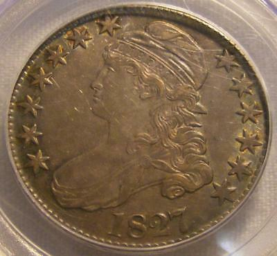 Nice 1827 Capped Bust 50c Half Dollar PCGS AU 53 Square Base 2