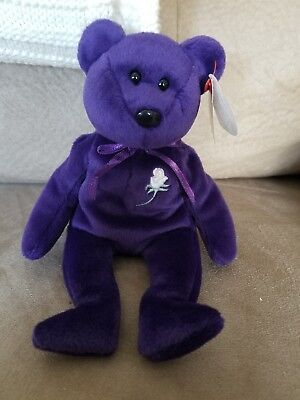 Authentic TY BEANIE BABY 1997 LE PRINCESS DIANA RARE/RETIRED W/ERRORS NO STAMP