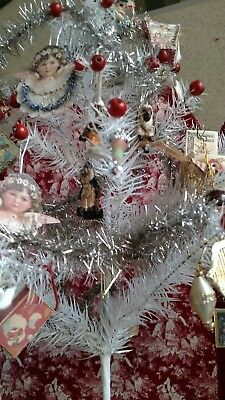 """WHITE 20"""" Genuine goose  FEATHER TREE!  EASTER TREE,   Tradional christmas"""