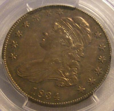 Nice 1834 Capped Bust 50c Half Dollar PCGS AU 55 Small Date, Sm Letters