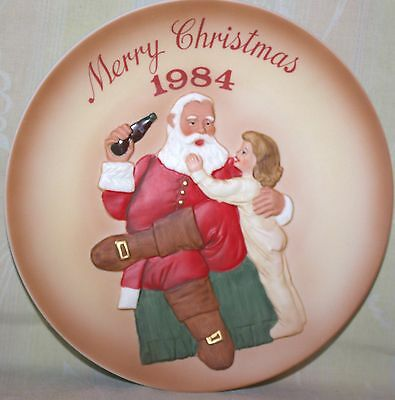 Coca-Cola, Coke Vintage Royal Orleans Plate 1984 - Second Annual Santa Claus
