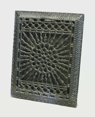 Antique Heavy Duty Cast Iron Heating Grate Vent Register Ornate 13.75 X 10.75