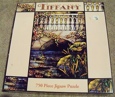 "Stained Glass by Tiffany 750 Piece Jigsaw Puzzle 24"" by 18"" Ceaco Ltd new sealed"