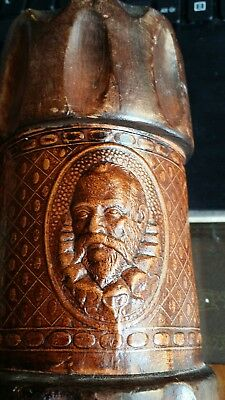 ANTIQUE  Dice Cup Circa 1800's Rare Hand Tooled & Wooden Top and Bottom Rare