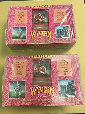 (2) Wyvern CCG Limited Edition Booster Box Factory Sealed Unopened Kingdom