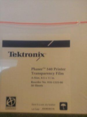 Tektronix Transparency Film Letter Size 50 Sheets For Phaser 540