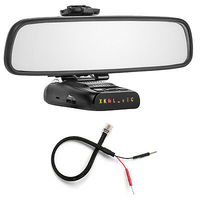 Mirror Mount Bracket + Mirror Wire Power Cord for Uniden DFR