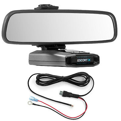 Mirror Mount Bracket + Direct Wire Power Cord for Escort IX EX Max360C