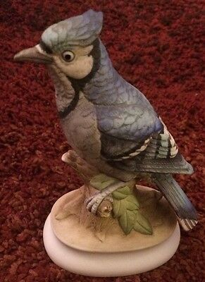 Lefton China Hand Painted Blue Jay KW395