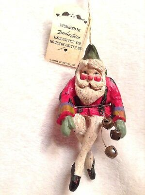 HOUSE OF HATTEN Santa Elf Shelf Sitter Ornament DENISE CALLA 1989  NEW With Tag