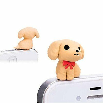 Cute Dog Puppy 3.5mm Anti Dust Earphone Jack Plug Cap Stopper for Mobile Phone