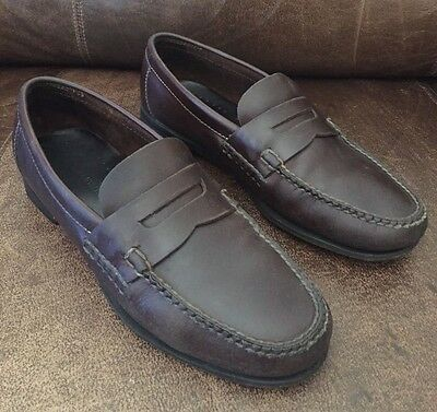 444e51e77a4 Johnston   Murphy Dark Brown Penny Loafers Size 9.5 M Comfortable Slip-on  Shoes