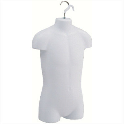 Big Kids Form Hanging Plastic Mannequin Garment Dress Display Lot of 4 White New