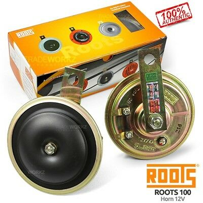 New & Genuine ROOTS 100 Chrome 12V Universal 4x4 UTE Car Electric Disc Dual Horn