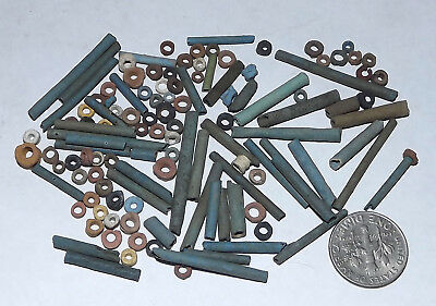 More than a Hundred 2500 Year old Ancient Egyptian Faience Mummy Beads (#G4352)