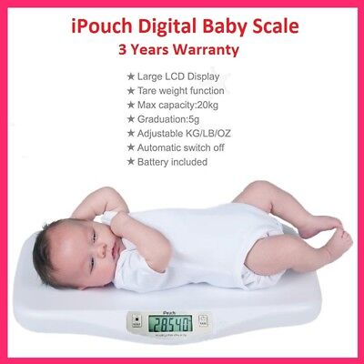 New Digital Infant Baby Pet Scale with Hold Function XL Platform 20KG Free Post
