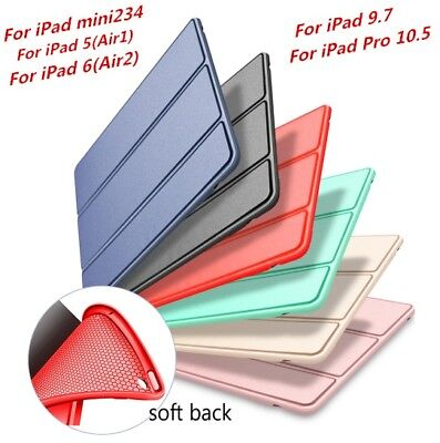Silicone Smart Case New iPad Back Cover Magnetic For iPad Mini Air 2 Pro 10.5