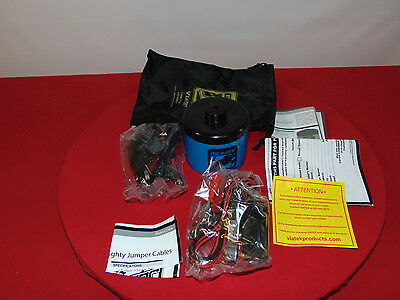 Portable Blue Mighty Jump Car Battery Kit Carying Case& Accessories Included/nib