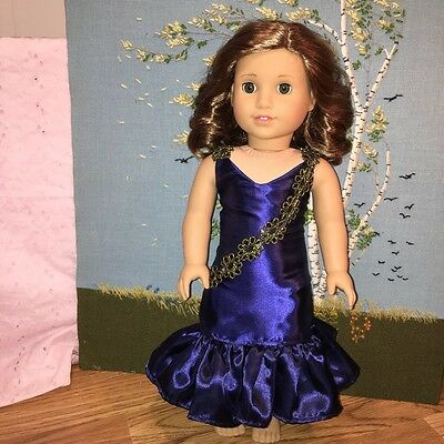 "Fits American 18"" Girl Doll Clothes Navy Blue Party Mermaid Dress Costume NEW"
