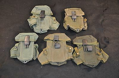 Lot Of 5 - Issued Usgi Lc-1 Mag Pouches - Alice Clip - Olive Drab