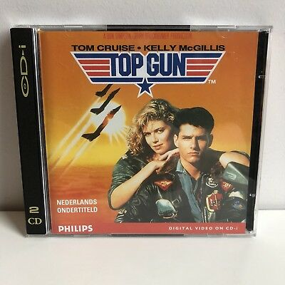 TOP GUN Phillips CD-i Video Cd Rare Dutch Subtitles 2-Disk Version