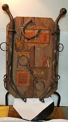 Vintage Folk Art Horse Wall Hanging With Antique Parts / Very Cool And Unique!!!